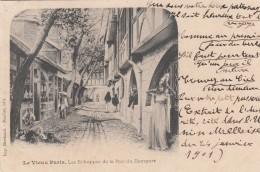 Cp , 75 , Le VIEUX PARIS , Les Échoppes De La Rue Du Rempart - Places, Squares