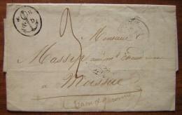 1837 Marque Privée Avec Ancre Sur Lettre De Toulouse Pour Moissac, à Propos D'un Lot De Cuivre De Mauvaise Qualité - Postmark Collection (Covers)