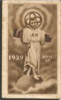 CAL68/71---  CALENDARIETTO,  ANNO  1939, DEVOTO OMAGGIO DELLE ORFANELLE DELL'OSPIZIO, SS.NOME DI GESU'. NAPOLI. - Calendari