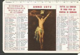 CAL72/73--- CALENDARIETTO, ANNO 1972,  GIORNATA MISSIONARIA MONDIALE, - Calendari