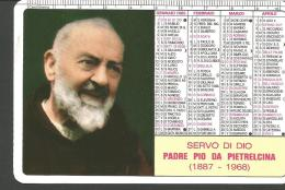CAL80/81---  CALENDARIETTO,  ANNO  1995,  PADRE PIO DA PIETRELCINA, - Formato Piccolo : 1991-00