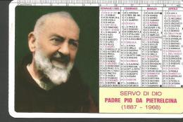 CAL80/81---  CALENDARIETTO,  ANNO  1995,  PADRE PIO DA PIETRELCINA, - Calendari