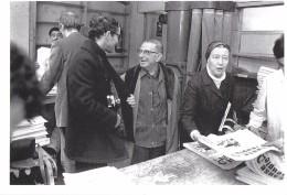 JEAN-LUC GODARD JEAN-PAUL SARTRE SIMONE DE BEAUVOIR 1970 PHOT. B. BARBERY HAZAN - Celebrità