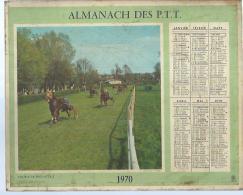 ALMANACH DES POSTES  1970 ( CALENDRIER ) COURSE DE TROT ATTELE / SAUT D´OBSTACLE - Calendriers
