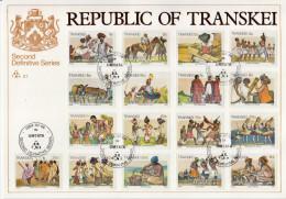 Transkei Second Definitive Set On FD Card And 1 CM - Transkei