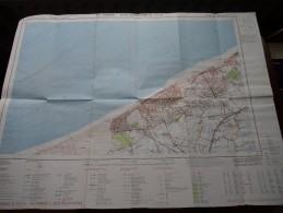 DE PANNE - OOSTDUINKERKE ( Nr. 11 / 7-8 ) Anno 1971 Schaal / Echelle / Scale 1: 25.000 ( Stafkaart : Zie Foto´s ) ! - Maps
