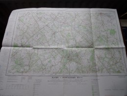 ALKEN - KORTESSEM ( Nr. 33 / 3-4 ) Anno 1962 Schaal / Echelle / Scale 1: 25.000 ( Stafkaart : Zie Foto´s ) ! - Maps
