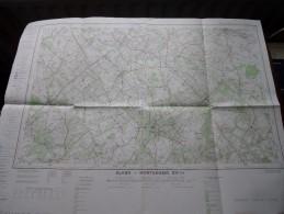 HEERS - BORGLOON ( Nr. 33 / 7-8 ) Anno 1961 Schaal / Echelle / Scale 1: 25.000 ( Stafkaart : Zie Foto´s ) ! - Maps