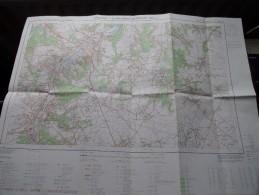 WAVRE - CHAUMONT-GISTOUX ( Nr. 40 / 1-2 ) Anno 1972 Schaal / Echelle / Scale 1: 25.000 ( Stafkaart : Zie Foto´s ) ! - Maps