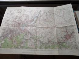 LIEGE ( Liège ) ( Nr. 42 Service N ) Anno 1938 - Schaal / Echelle / Scale 1: 40.000 ( Stafkaart : Zie Foto´s ) ! - Maps
