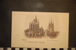 CP, Allemagne, Gruss Aus Blumenstadt Erfurt Dom Und Senerikirche - Deutschland