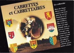 CARTE POSTALE CABRETTES ET CABRETTAIRES MUSIQUE AUVERGNATS DE PARIS - Música Y Músicos