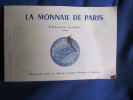 ORIGINAL CARNET SUR LA FABRIQUE DE PIECE A PESSAC POUR MONNAIE DE PARIS VERS 1975? - France