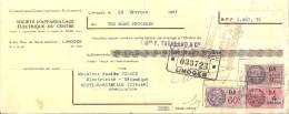 Fiscal   87 Limoges  -  S A E C ,  Facture  Acquitté  De 1941  Timbrée - France