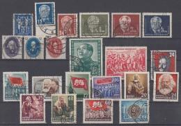 DDR Lot Marken Anfangsjahre Gestempelt - Briefmarken