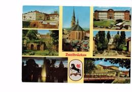 Allemagne, Zweibrucken, Multivues - Blason - Abri Autobus Bus Car - Marché - Zweibruecken