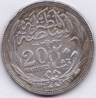 EGYPTE. 20 PIASTRES AH 1335 (1917).  KM# 321. ARGENT / SILVER - Egypte