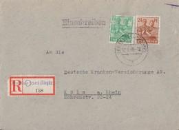 Bizone R-Brief Mif Minr.44I, 51II Oberkassel 12.8.48 - Bizone