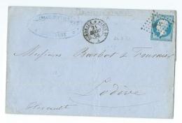 LETTRE 20 C  N°14  EMPIRE  BORDEAUX A LODEVE - Marcophilie (Lettres)