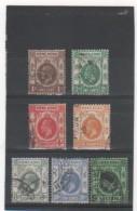 HONG KONG 1912-21 YT N° 99 à 104+109 Oblitérés - Hong Kong (...-1997)