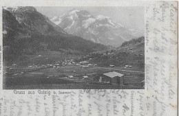 GRUSS AUS GSTEIG BEI SAANEN → Alter Lichtdruck Anno 1902 - BE Bern