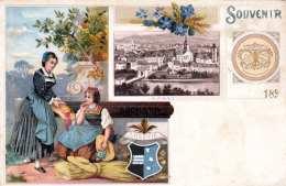 Litho AARAU - Suchard Karte Um 1898? - AG Aargau