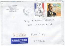 FRANCIA - France - 2016 - Prioritaire - Gilberto Bosques + Service Central D'Etat Civil - Viaggiata Da Maisons Laffit... - Francia