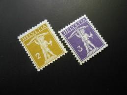 CH ZNr.117(*)(MLH) +118**(MNH) - Tellknabe  1909  Z CHF 2.50 - Switzerland