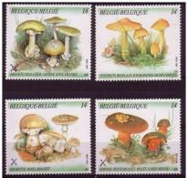 Belgium**MUSHROOMS- 4 Stamps-1991-CHAMPIGNONS-Pfefferlinge-Paddestoel - Belgium
