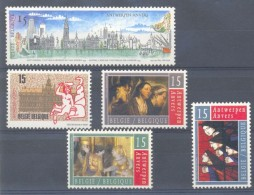 Belgium**ANTWERPEN-Panorama-Jordaens Painting-5vals-Church Window-Vitrail-1993-MNH - België