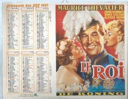 ALMANACH DES POSTES  1987 ( CALENDRIER ) LE ROI - MAURICE CHEVALIER / QUAI DES ORFEVRES - LOUIS JOUVET - Calendari