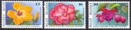 Belgium**Flowers-Hibiscus-Rhododendron-Fuchsia-3vals-Fleurs-Floralies 1995-Bloem-Blumen-Flores-Fiori-MNH - Belgium