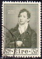 IRELAND 1952 SG #153 3½d Used Thomas Moore - 1949-... Republic Of Ireland