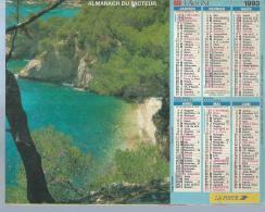 ALMANACH DES POSTES  1993 ( CALENDRIER ) PLAGE VAROISE / COTE D'AZUR - Calendriers