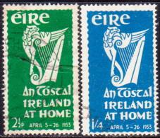 IRELAND 1953 SG #154-55 Compl.set Used An Tostal Festival - 1949-... Republic Of Ireland