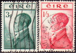 IRELAND 1953 SG #156-57 Compl.set Used Robert Emmet - 1949-... Republic Of Ireland
