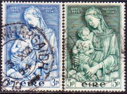 IRELAND 1954 SG #158-59 Compl.set Used Marian Year - 1949-... Republic Of Ireland