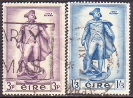 IRELAND 1956 SG #162-63 Compl.set Used Barry Commemoration - 1949-... Republic Of Ireland