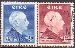 IRELAND 1957 SG #164-65 Compl.set Used John Redmond - 1949-... Republic Of Ireland