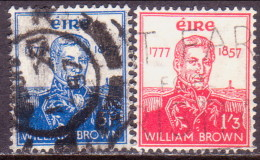 IRELAND 1957 SG #168-69 Compl.set Used Admiral William Brown - 1949-... Republic Of Ireland
