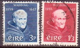 IRELAND 1957 SG #170-71 Compl.set Used Father Luke Wadding - 1949-... Republic Of Ireland