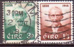 IRELAND 1958 SG #172-73 Compl.set Used Tom Clarke - 1949-... Republic Of Ireland