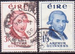IRELAND 1959 SG #178-79 Compl.set Used Arthur Guinness - 1949-... Republic Of Ireland