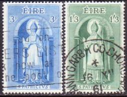 IRELAND 1961 SG #186,188 Part Set 2 Stamps Of 3 Used St. Patrick - 1949-... République D'Irlande