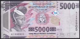 Guinea 5000 Francs 2015 Pew UNC - Guinea