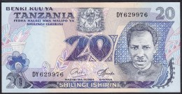 Tanzania 20 Shilingi 1978 P7c UNC - Tanzanie