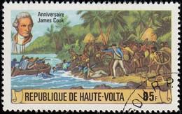 BURKINA FASO (Haute Volta) - Scott #475 The 250th Anniversary Of The Birth Of Captain James Cook / Used Stamp - Alto Volta (1958-1984)