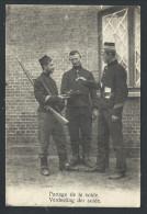 "CPA - LEOPOLDSBURG - CAMP DE BEVERLOO - ""Partage De La Solde"" - Cachet Griffe BOURG LEOPOLD  // - Leopoldsburg (Camp De Beverloo)"