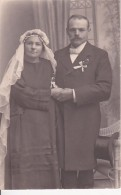 AK Foto Brautpaar - Ca. 1910 (23336) - Hochzeiten