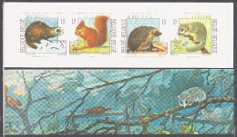 Belgium 1992 Belgien Mi MH34(2529-2532) Animals: Polecat, Squirrel, Hedgehog, Dormouse / Tiere: Iltis, Eichhörnchen MNH - Postzegels